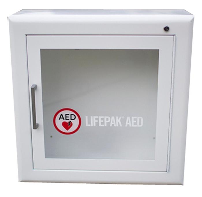 LIFEPAK defibrillaattorin seinäkaappi